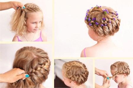 Прически для коротких волос для девочек