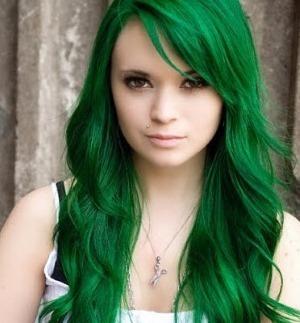 Окрашивание волос в зеленый цвет фото