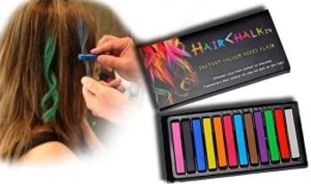 как наносить цветные мелки для волос