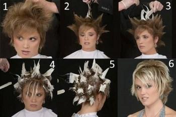 как осветлить кончики коротких волос